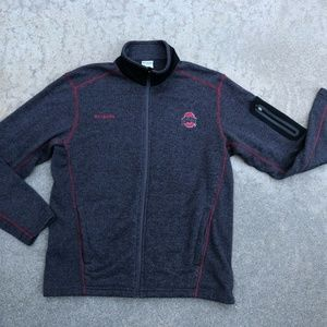 Columbia Ohio State Buckeyes Full Zip Jacket Sz M